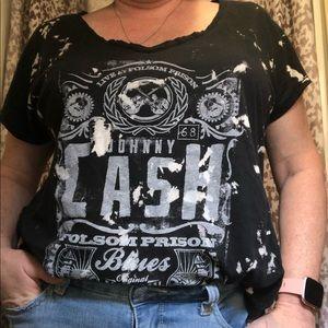 Rock & Republic Johnny Cash Band Tee Shirt
